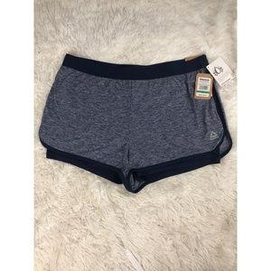 Reebok Womens Shorts Size XL Slim Fit Blue NEW